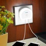 Lampka nocna z włącznikiem i 2 USB BRELONG z w Gearbest