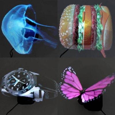 projektor hologramy