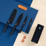 [EU] Zestaw 4 noży kuchennych w bloku Xiaomi HUOHOU w Banggood